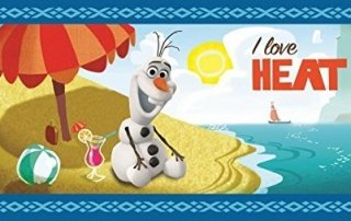 Olaf trying to beat the heat