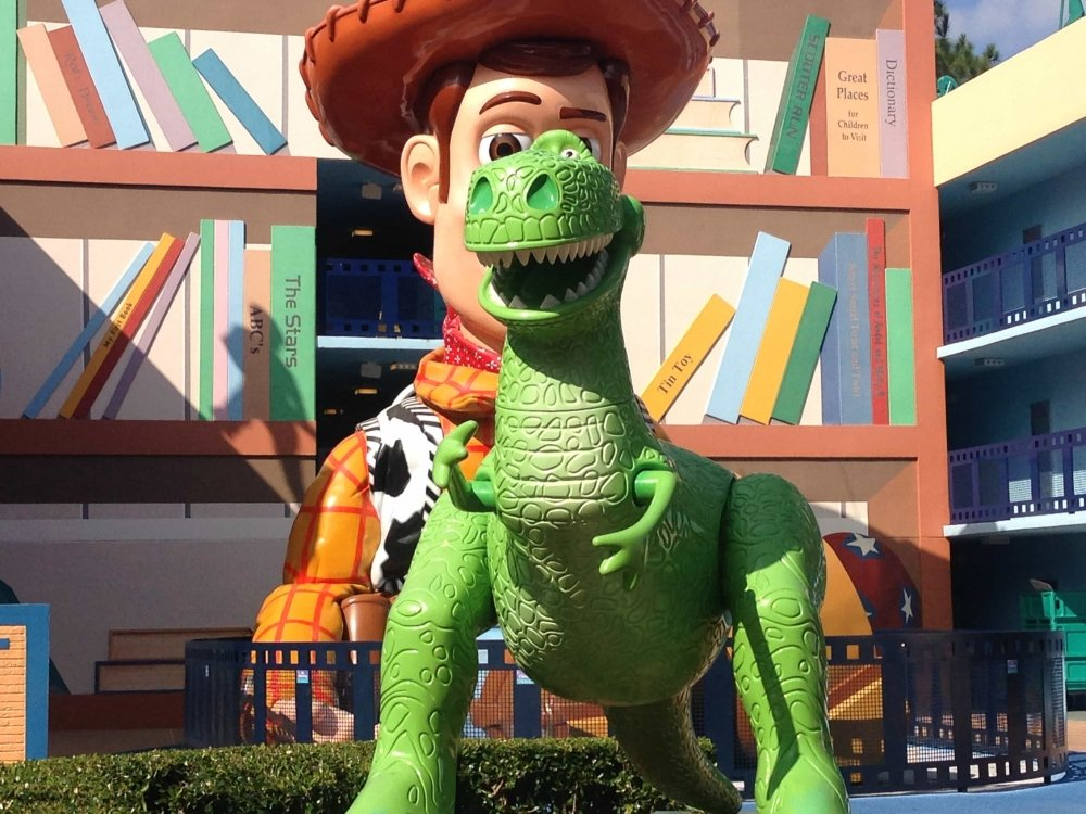 Woody and Rex from Toy Story at Disney's All-Star Movie Resort